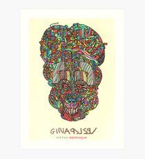 acid skull Art Print