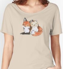 FOX AND OWL BUDDIES Women's Relaxed Fit T-Shirt
