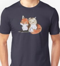 FOX AND OWL BUDDIES Unisex T-Shirt