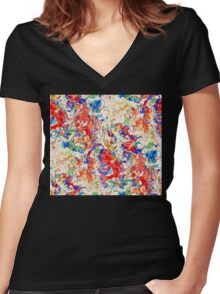 Spring Colors Women's Fitted V-Neck T-Shirt