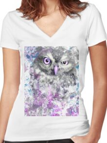 Watching you Women's Fitted V-Neck T-Shirt