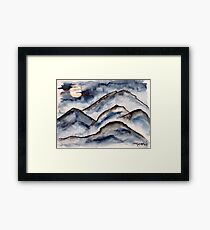 Mountains at Night Framed Print