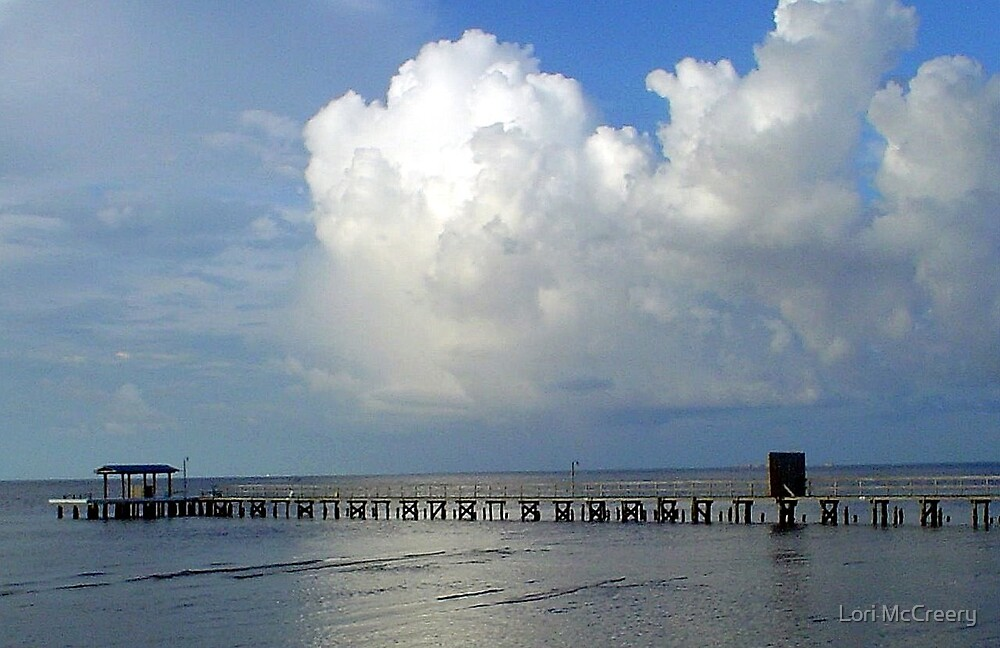 A Pier in Florida by Lori McCreery