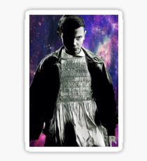 Eleven by the galaxy - black and white Sticker