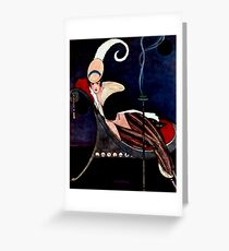George Wolfe Plank Art Deco Magazine Cover 11 Greeting Card