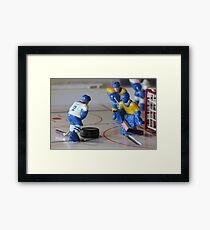 attack ice hockey Framed Print