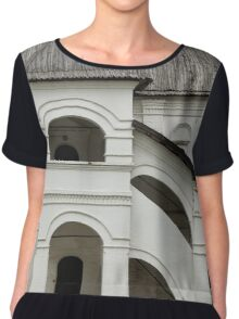 Porch in medieval palace Chiffon Top