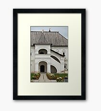 Porch in medieval palace Framed Print
