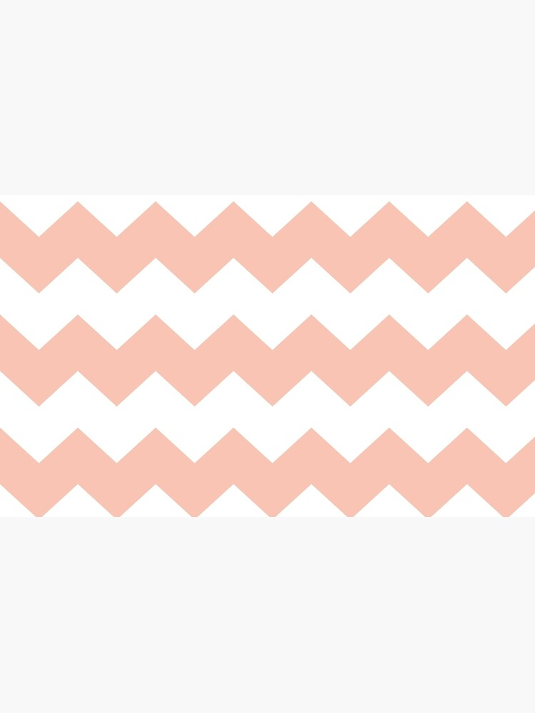Apricot / Apricot Chevron Pattern by patternplaten