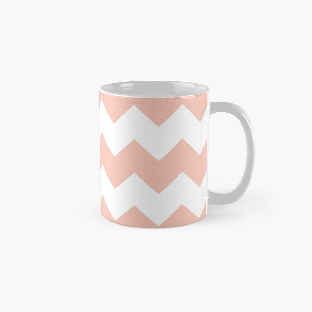 Apricot / Apricot Chevron Pattern Mugs