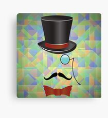 Mustaches and retro accessories Canvas Print