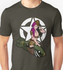 Army Punk Pin Up Slim Fit T-Shirt