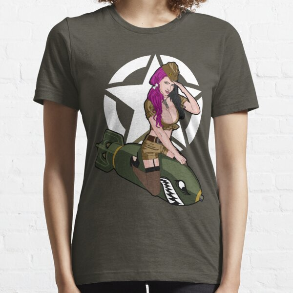 Army Punk Pin Up Essential T-Shirt