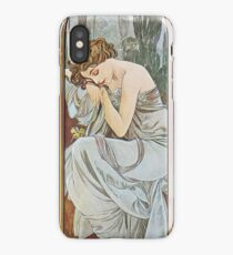 Alphonse Mucha - Nocturnal Slumber iPhone Case/Skin