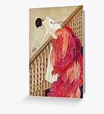 George Wolfe Plank Art Deco Magazine Cover 14 Greeting Card