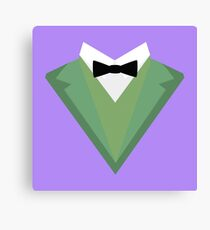Green Tuxedo Suit with bow tie R3qgb Canvas Print