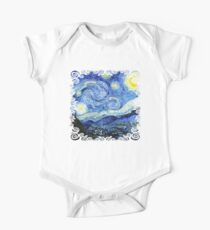 The Starry Night - Vincent van Gogh One Piece - Short Sleeve