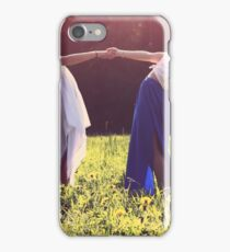 Dancing girls holding hands iPhone Case/Skin