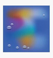 water drop background Photographic Print