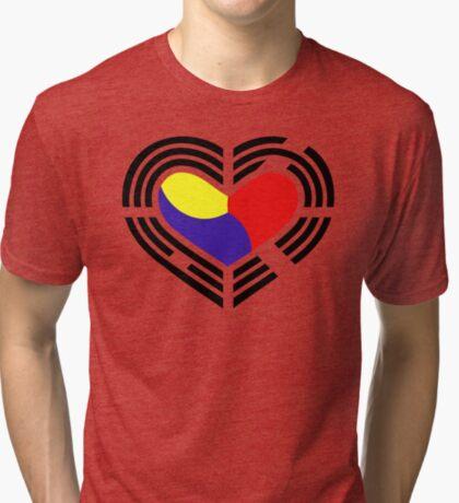 Korean Patriot Flag Series (Heart) Tri-blend T-Shirt