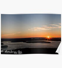 New England Sunrise Poster