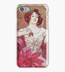 Alphonse Mucha - Ruby iPhone Case/Skin