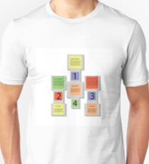 abstract square info graphic business elements T-Shirt