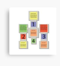 abstract square info graphic business elements Canvas Print