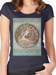Alphonse Mucha - Ivy Women's Fitted Scoop T-Shirt