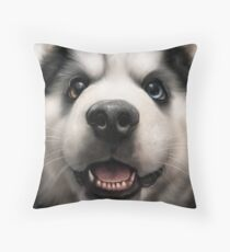 SuperFuzz Baby Husky Throw Pillow