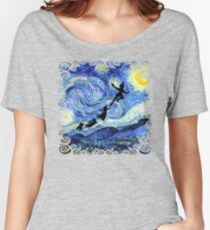 Peter Pan Starry Night Women's Relaxed Fit T-Shirt