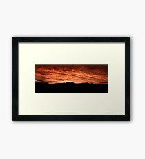 Desert Sunset In Red Framed Print