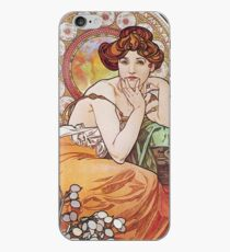 Alphonse Mucha - Topaz iPhone Case