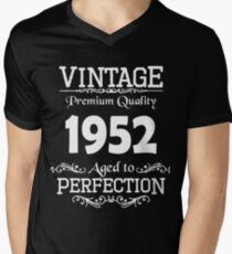 Birthday t-shirt. Made in 1952. Mens V-Neck T-Shirt