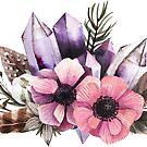 Blumen und Kristalle von BekkaCampbell