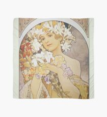 Alphonse Mucha - Flowers Scarf