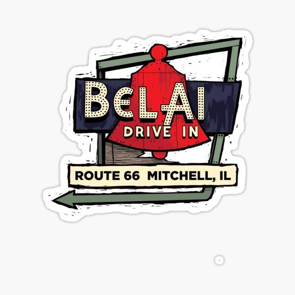 Route 66 Bel Air Drive In Sticker