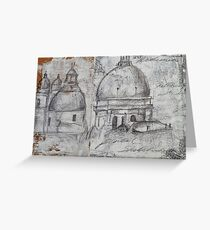 Accademia, Venice; Pencil sketch Greeting Card