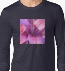 Pink Lily Macro Photo Long Sleeve T-Shirt