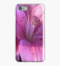 Pink Lily Macro Photo iPhone Case/Skin