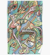 Flying Fishes, Guitars & Piano Poster