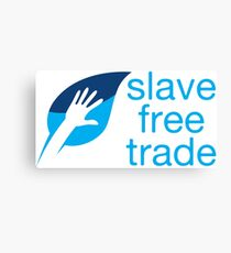 Slave Free Trade Merchandise Canvas Print