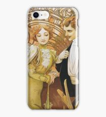 Alphonse Mucha - Flirt iPhone Case/Skin