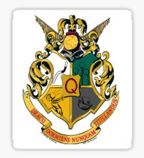 The 4 muggle quidditch houses Sticker
