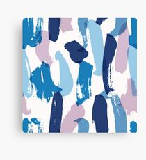 Colorful Abstract Brush Strokes Canvas Print