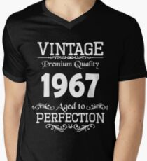 Birthday t-shirt. Made in 1967. Mens V-Neck T-Shirt