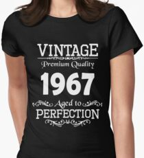 Birthday t-shirt. Made in 1967. Womens Fitted T-Shirt