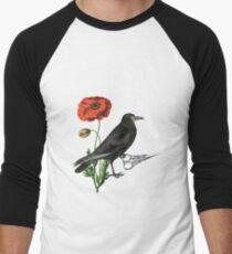 Crow & Scissors  Men's Baseball ¾ T-Shirt