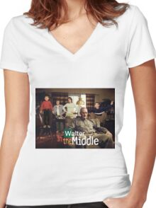 Walter In The Middle Women's Fitted V-Neck T-Shirt