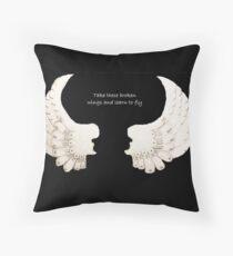 broken wings Throw Pillow